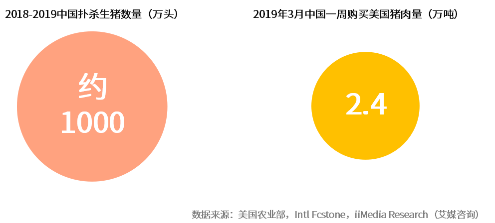 2018-2019中国扑杀生猪数量