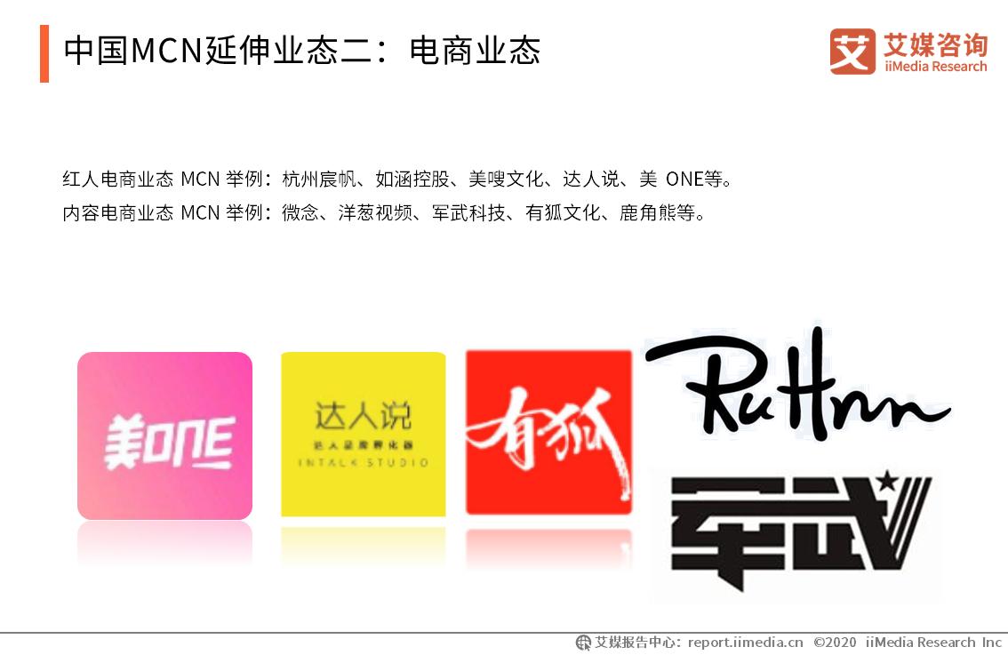 中国MCN延伸业态二:电商业态