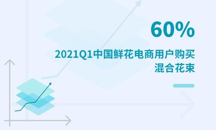鲜花电商行业数据分析:2021Q1中国60%鲜花电商用户购买混合花束
