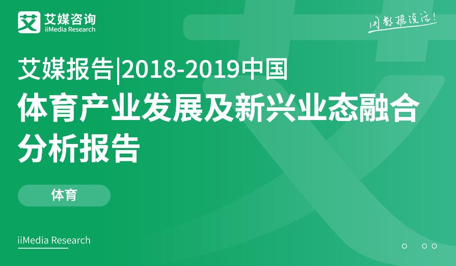 艾媒报告 |2018-2019中国体育产业发展及新兴业态融合分析报告