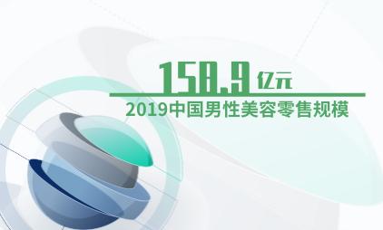 美容行业数据分析:2019中国男性美容零售规模达158.9亿元