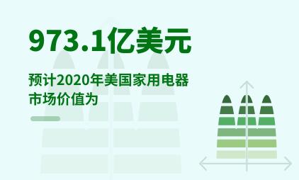 家用电器行业数据分析:预计2020年美国家用电器市场价值为973.1亿美元