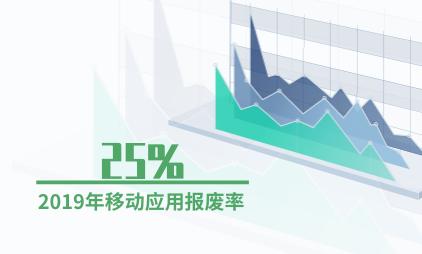 移动应用行业数据分析:2019年移动应用报废率为25%