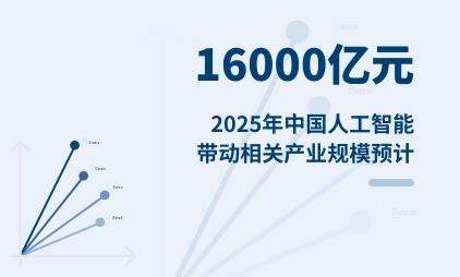 人工智能行业数据分析:2025年中国人工智能带动相关产业规模预计超16000亿元
