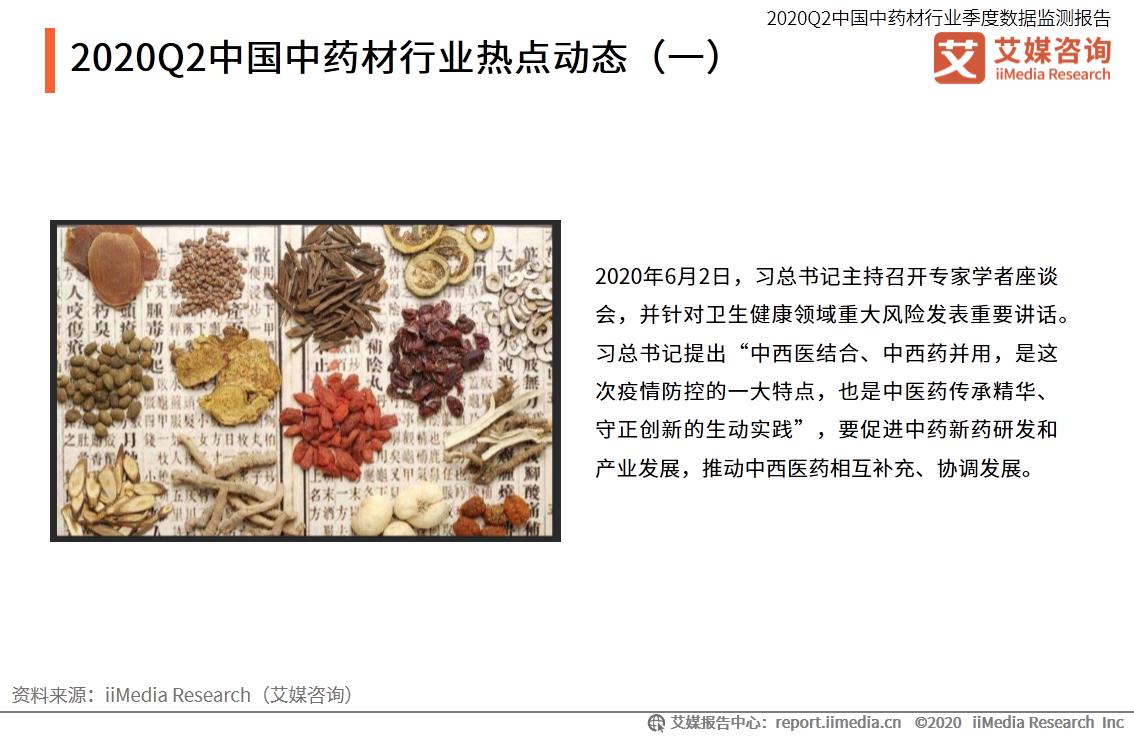 2020Q2中国中药材行业热点动态