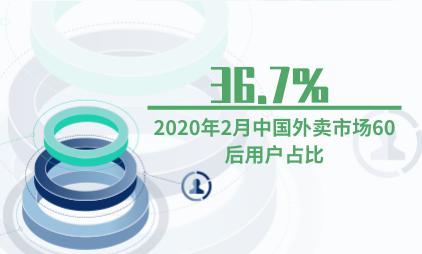 外卖行业数据分析:2020年2月中国外卖市场60后用户占比36.7%