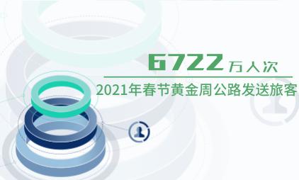 交通行业数据分析:2021年春节黄金周公路发送旅客6722万人次