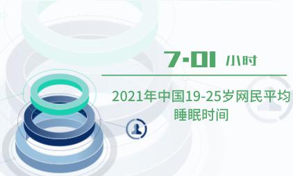 睡眠经济数据分析:2021年中国19-25岁网民平均睡眠时间为7.01小时