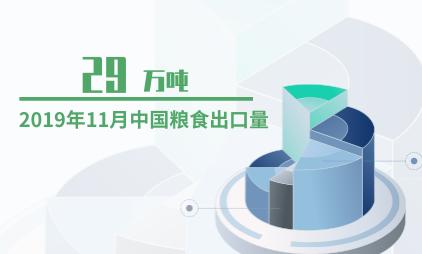 粮食行业数据分析:2019年11月中国粮食出口量为29万吨