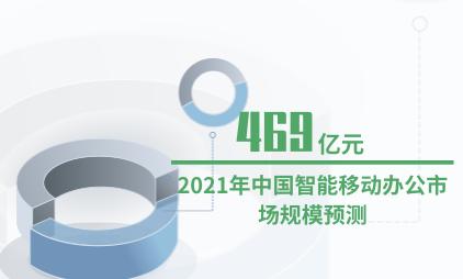 移动办公行业数据分析:2021年中国智能移动办公市场规模将达到469亿元