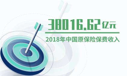 保险行业数据分析:2018年中国原保险保费收入38016.62亿元