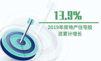 房地产行业数据分析:2019年房地产住宅投资累计增长13.9%