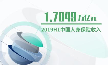 保险行业数据分析:2019年上半年中国人身保险收入1.7049万亿元