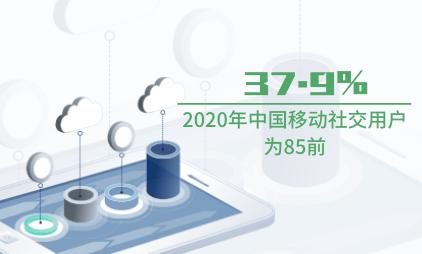 移动应用数据分析:2020年中国37.9%移动社交用户为85前