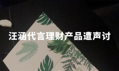 明星代言P2P再翻车:爱钱进app被立案调查,汪涵遭投资者声讨
