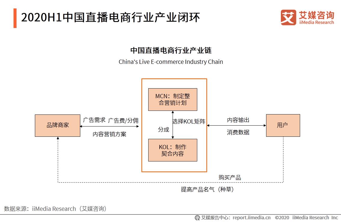 2020H1中国直播电商行业产业闭环