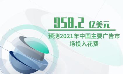 广告行业数据分析:预测2021年中国主要广告市场投入花费为958.2亿美元