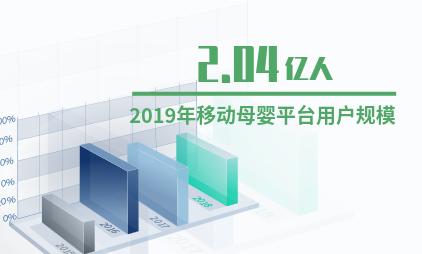 中国母婴行业数据分析:2019年移动母婴平台用户规模预计达2.04亿人