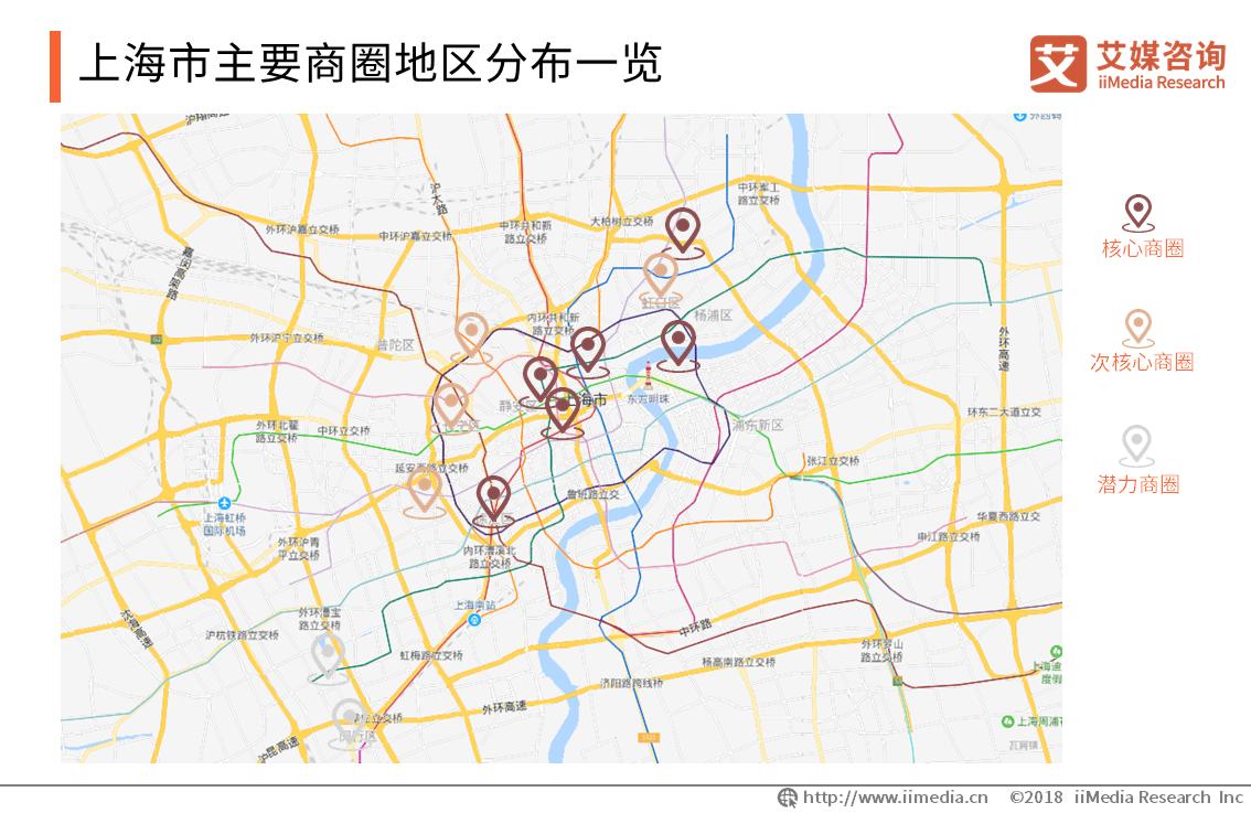 上海市主要商圈地区分布一览