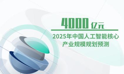 人工智能行业数据分析:2025年中国人工智能核心产业规模规划将达4000亿元