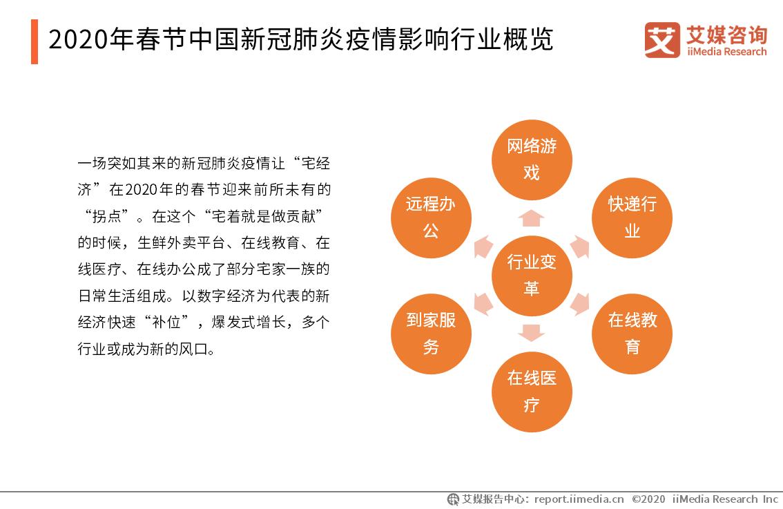 2020年春节新冠疫情影响行业概览