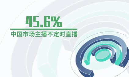 直播行业数据分析:45.6%中国市场主播不定时直播