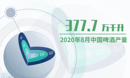 啤酒行业数据分析:2020年8月中国啤酒产量为377.7万千升
