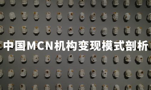 2020年中国MCN机构类型、规模及变现模式剖析