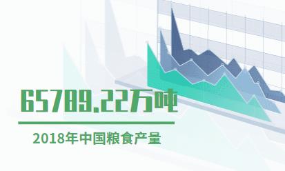 粮食行业数据分析:2018年中国粮食产量为65789.22万吨