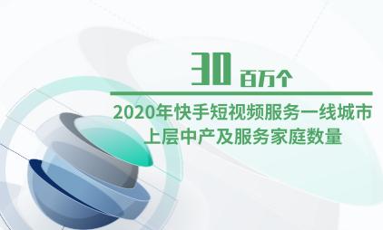 短视频行业数据分析:2020年快手短视频服务一线城市上层中产及服务家庭数量为30百万个