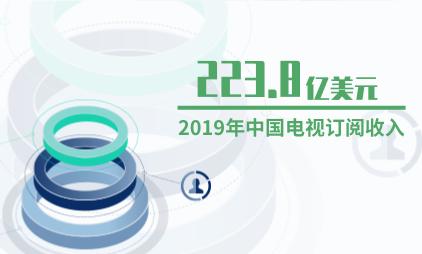 电视行业数据分析:2019年中国电视订阅收入为223.8亿美元