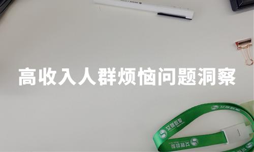 2019中国高收入人群烦恼问题洞察