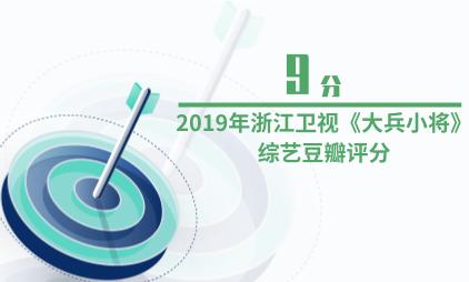 综艺行业数据分析:2019年浙江卫视《大兵小将》综艺豆瓣评分为9分