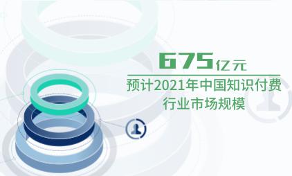 文娱行业数据分析:预计2021年中国知识付费行业市场规模为675亿元