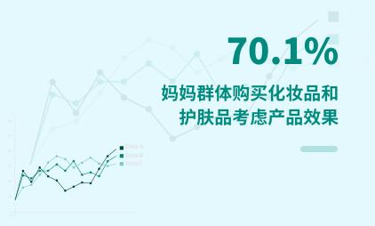 化妆品行业数据分析:2021年中国70.1%妈妈群体购买化妆品和护肤品考虑产品效果