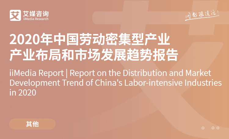 艾媒咨询|2020年中国劳动密集型产业产业布局和市场发展趋势报告