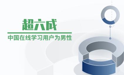在线学习行业数据分析:超六成中国在线学习用户为男性