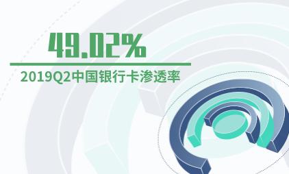银行卡行业数据分析:2019Q2中国银行卡渗透率为49.02%
