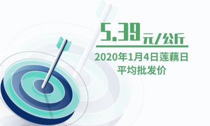 莲藕行业数据分析:2020年1月4日莲藕日平均批发价为5.39元/公斤
