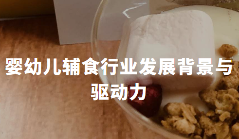 2020Q1中国婴幼儿辅食行业发展背景与驱动力分析