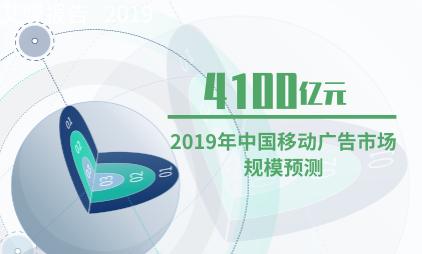 电商行业数据分析:2019年中国移动广告市场规模将超4100亿元