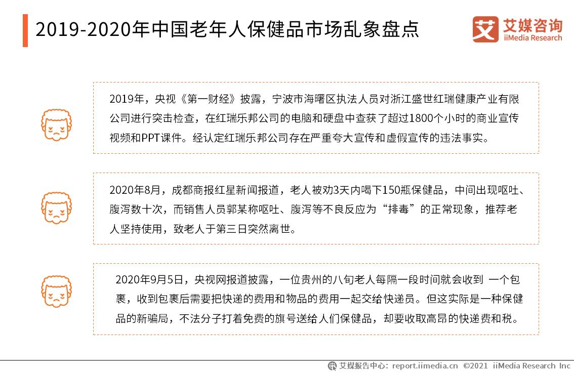 2019-2020年中国老年人保健品市场乱象盘点