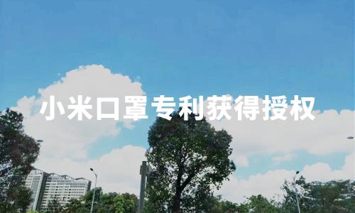 小米口罩专利获得授权,有效提升了气密性,2020-2021年中国口罩产业发展趋势分析