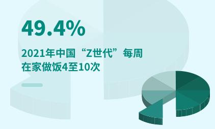 """Z世代""群体数据分析:2021年中国49.4%""Z世代""每周在家做饭4至10次"