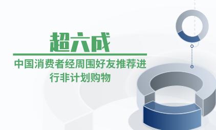 零售行业数据分析:超六成中国消费者经周围好友推荐进行非计划购物