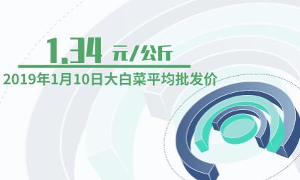白菜行业数据分析:2019年1月10日大白菜平均批发价为1.34元/公斤
