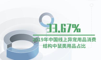 宠物行业数据分析:2019年中国线上异宠用品消费结构中鼠类用品占比33.67%
