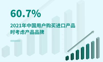 跨境电商行业数据分析:2021年中国60.7%用户购买进口产品时考虑产品品牌