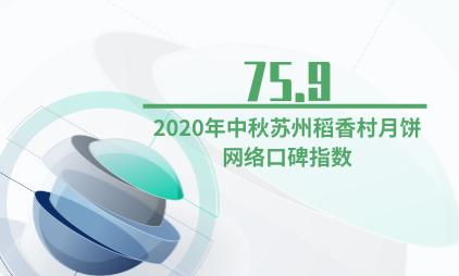 月饼行业数据分析:2020年中秋苏州稻香村月饼网络口碑指数为75.9