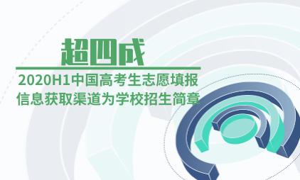 教育行业数据分析:2020H1超四成中国高考生志愿填报信息获取渠道为学校招生简章